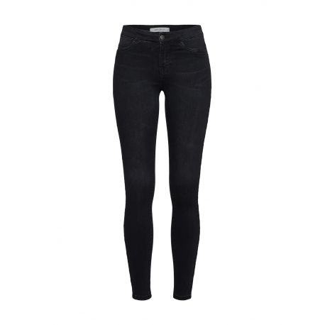 JACQUELINE De YONG Damen Jeggings 'Ella' black denim